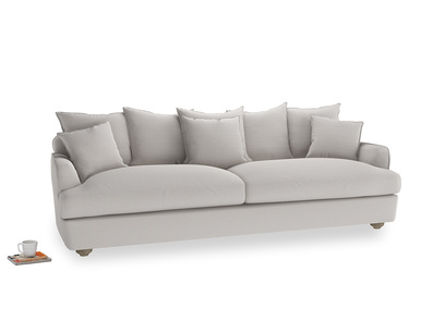 Extra large Smooch Sofa in Lunar Grey washed cotton linen