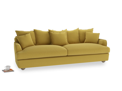 Extra large Smooch Sofa in Maize yellow Brushed Cotton