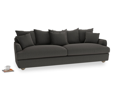 Extra large Smooch Sofa in Old Charcoal brushed cotton