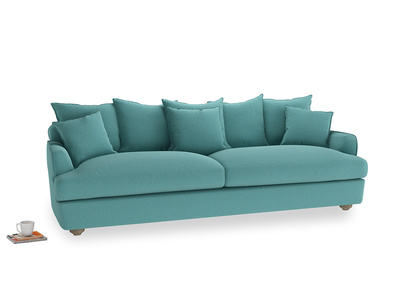 Extra large Smooch Sofa in Peacock brushed cotton
