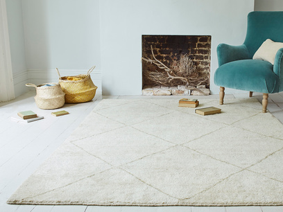 Habib Hand Knotted Rug in Natural Marl