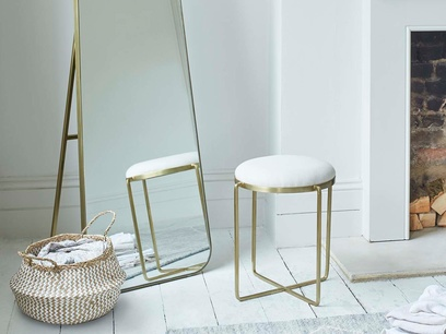 Footlight Brass Dressing Table Stool