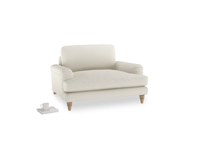 Cinema Love Seat in Chalky White Clever Softie