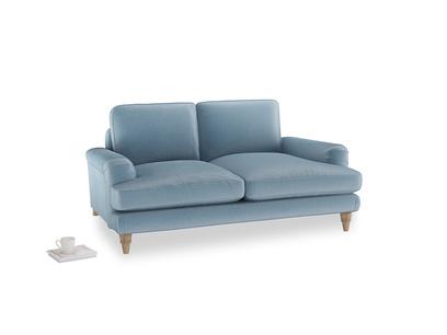 Small Cinema Sofa in Chalky blue vintage velvet