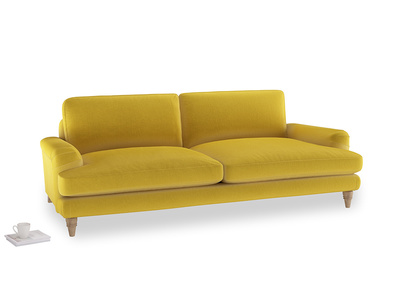 Large Cinema Sofa in Bumblebee clever velvet