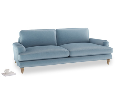 Large Cinema Sofa in Chalky blue vintage velvet