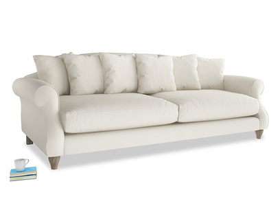 Extra large Sloucher Sofa in Chalky White Clever Softie