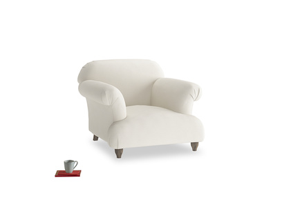 Soufflé Armchair in Chalky White Clever Softie
