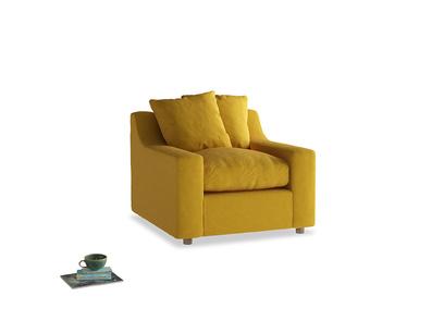 Cloud Armchair in Yellow Ochre Vintage Linen