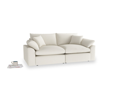 Medium Cuddlemuffin Modular sofa in Chalky White Clever Softie