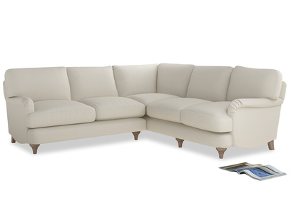 Even Sided Jonesy Corner Sofa in Chalky White Clever Softie