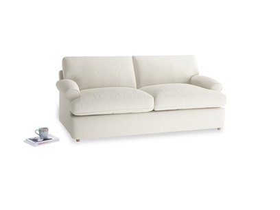 Medium Slowcoach Sofa Bed in Chalky White Clever Softie