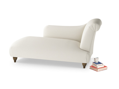 Right Hand Brontë Chaise Longue in Chalky White Clever Softie