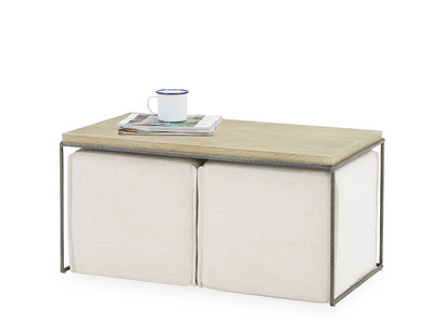 Caboodle Coffee Table with Footstools Underneath