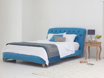 dozer buttoned chesterfield upholstered bed