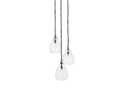 Raindrop Glass Cluster Pendant Light