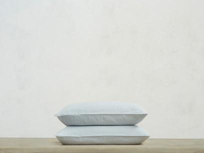 Everyday Linen Pillow Case in Sky grey x2