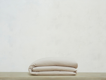Double Everyday Linen Duvet Cover in Stone Grey