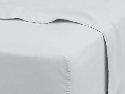 Superking Everyday Linen Fitted Sheet in Sky grey