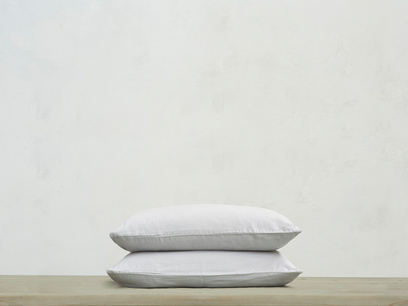 Tumbled Cotton Pillowcase in Sky grey x2