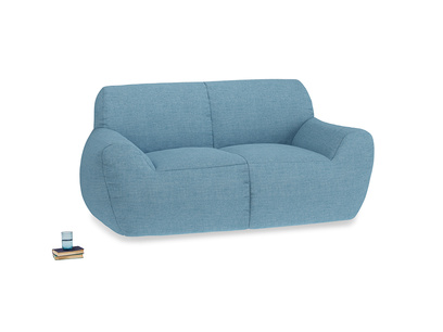 Layabout Sofa Squidger in Moroccan blue clever woolly fabric