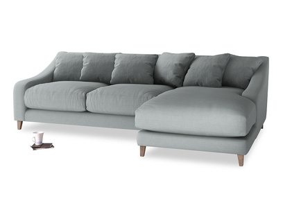 XL Right Hand  Oscar Chaise Sofa in Armadillo Clever Softie