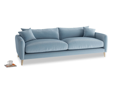 Large Squishmeister Sofa in Chalky blue vintage velvet