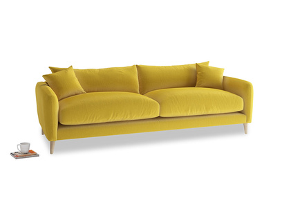 Large Squishmeister Sofa in Bumblebee clever velvet