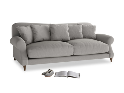 Large Crumpet Sofa in Wolf brushed cotton