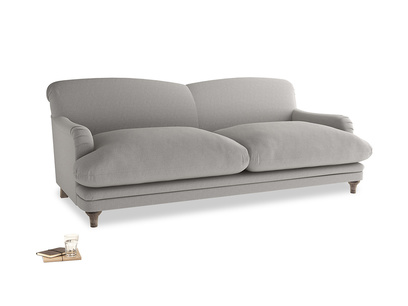 Large Pudding Sofa in Wolf brushed cotton