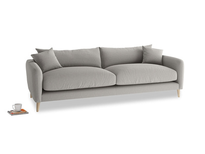 Large Squishmeister Sofa in Wolf brushed cotton