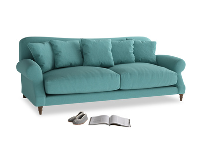 Large Crumpet Sofa in Peacock brushed cotton