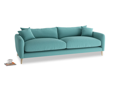 Large Squishmeister Sofa in Peacock brushed cotton