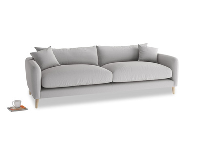 Large Squishmeister Sofa in Flint brushed cotton