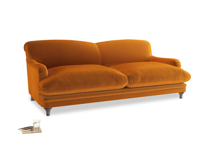 Large Pudding Sofa in Spiced Orange clever velvet
