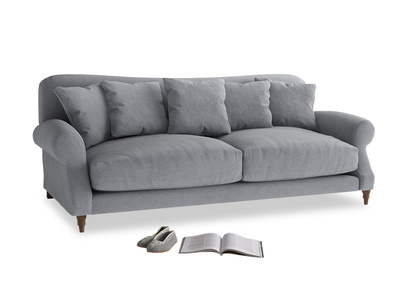 Large Crumpet Sofa in Dove grey wool