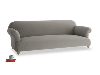 Extra large Soufflé Sofa in Monsoon grey clever cotton