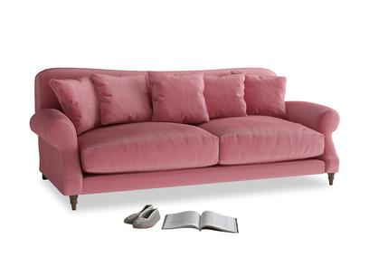 Large Crumpet Sofa in Blushed pink vintage velvet