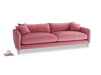Large Squishmeister Sofa in Blushed pink vintage velvet