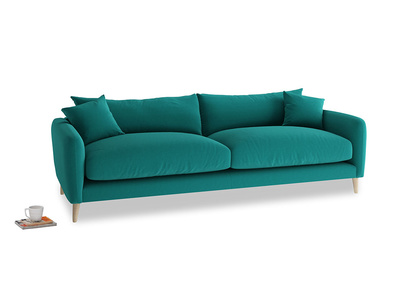 Large Squishmeister Sofa in Indian green Brushed Cotton