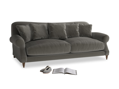 Large Crumpet Sofa in Slate clever velvet