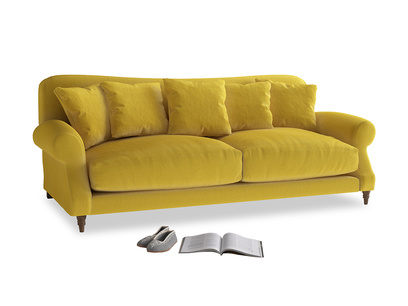 Large Crumpet Sofa in Bumblebee clever velvet