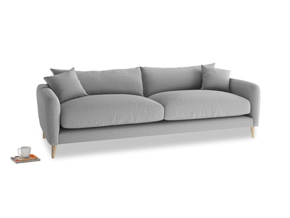 Large Squishmeister Sofa in Magnesium washed cotton linen