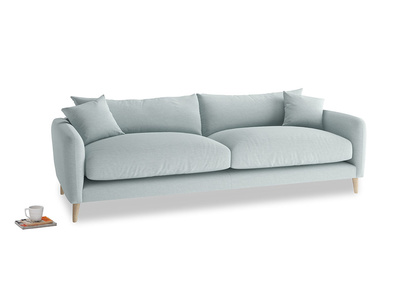 Large Squishmeister Sofa in Duck Egg vintage linen