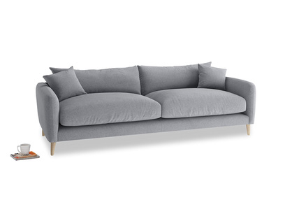 Large Squishmeister Sofa in Dove grey wool