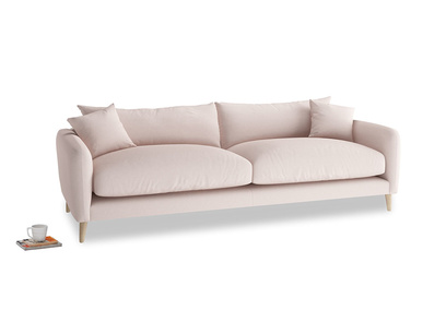 Large Squishmeister Sofa in Faded Pink brushed cotton