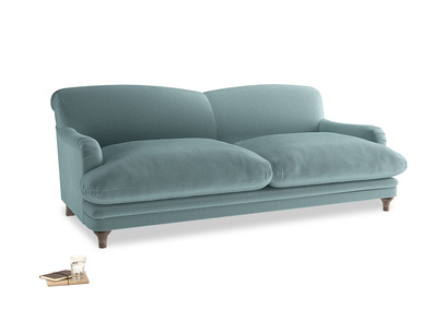 Large Pudding Sofa in Lagoon clever velvet