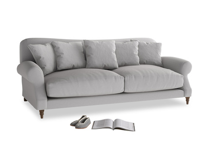 Large Crumpet Sofa in Flint brushed cotton