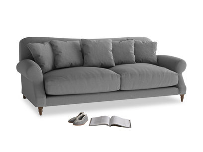 Large Crumpet Sofa in Gun Metal brushed cotton
