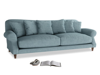 Extra large Crumpet Sofa in Soft Blue Clever Laundered Linen